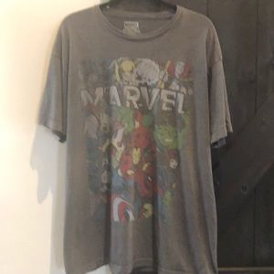 Marvel Superheroes Gray Short Sleeve Tee Shirt